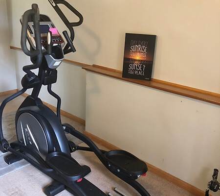 Fun exercise bike for residents of local Progressive Living Solutions group home.